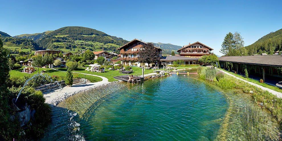 Badesee - Wanderhotel Kirchner, Urlaub in Bramberg
