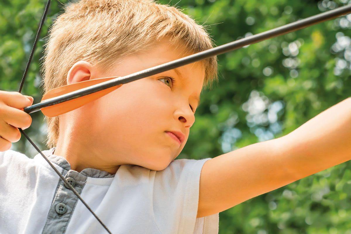 Bogenschießen am 3D-Bogenparcours in Neukirchen