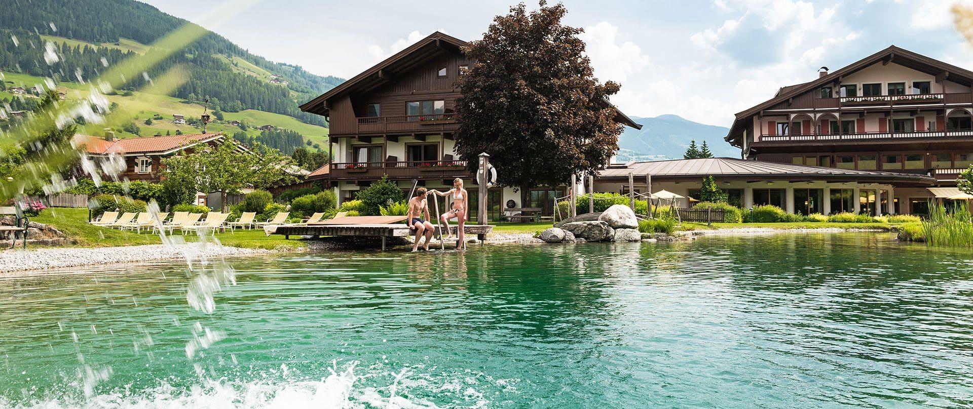 Hotel mit Badesee in Österreich