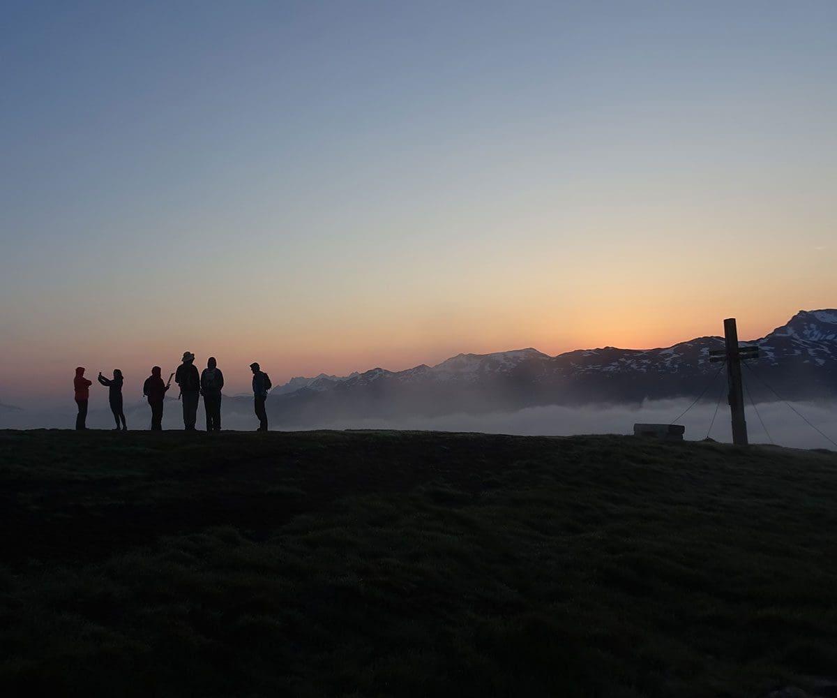 Sonnenaufgangswanderung - Aktivhotel in Österreich