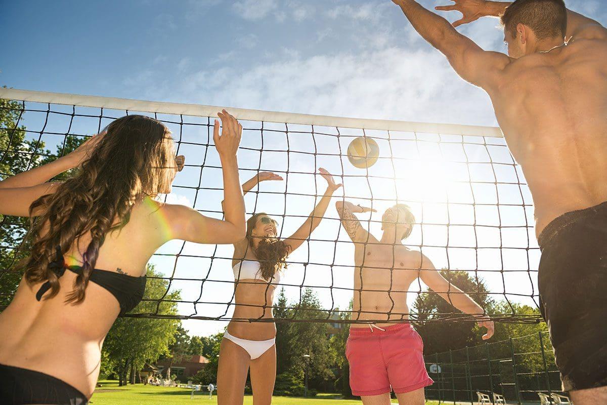 Volleyball-Platz, Wanderhotel Kirchner