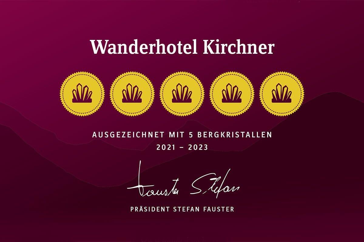 Wanderhotel - Auszeichnung